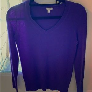 Halogen purple cashmere sweater